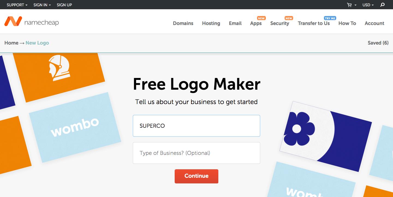 Namecheap free logo generator