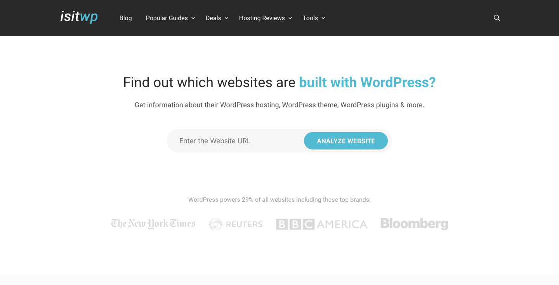IsItWP WordPress Theme Detector