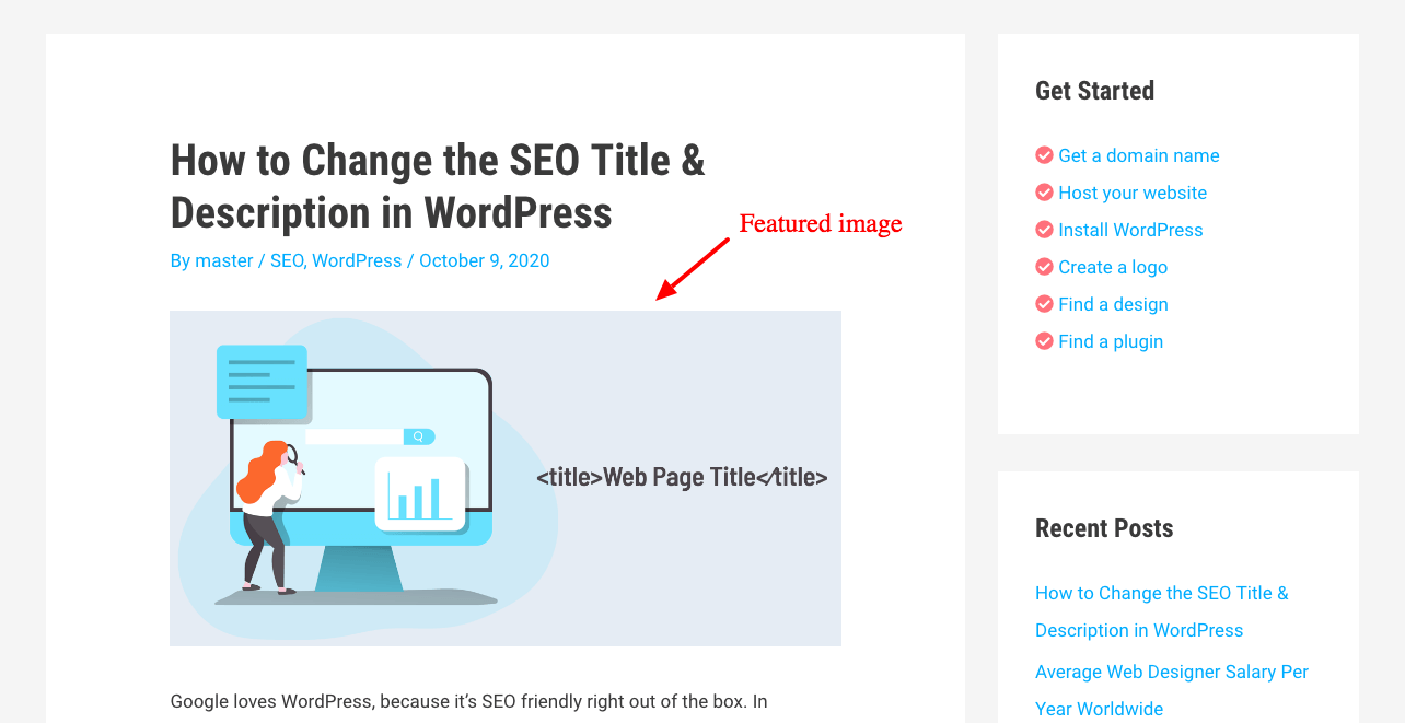 wordpress featured image example