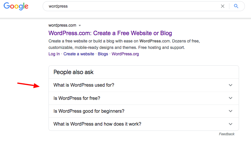 people also ask serp