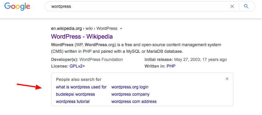 people also search for serp
